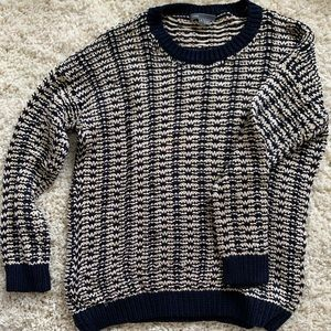 Vince blue and white knit sweater